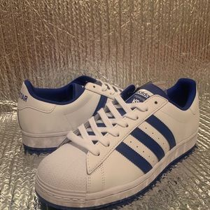 NEW Adidas White/Blue Originals Superstar Sneaker